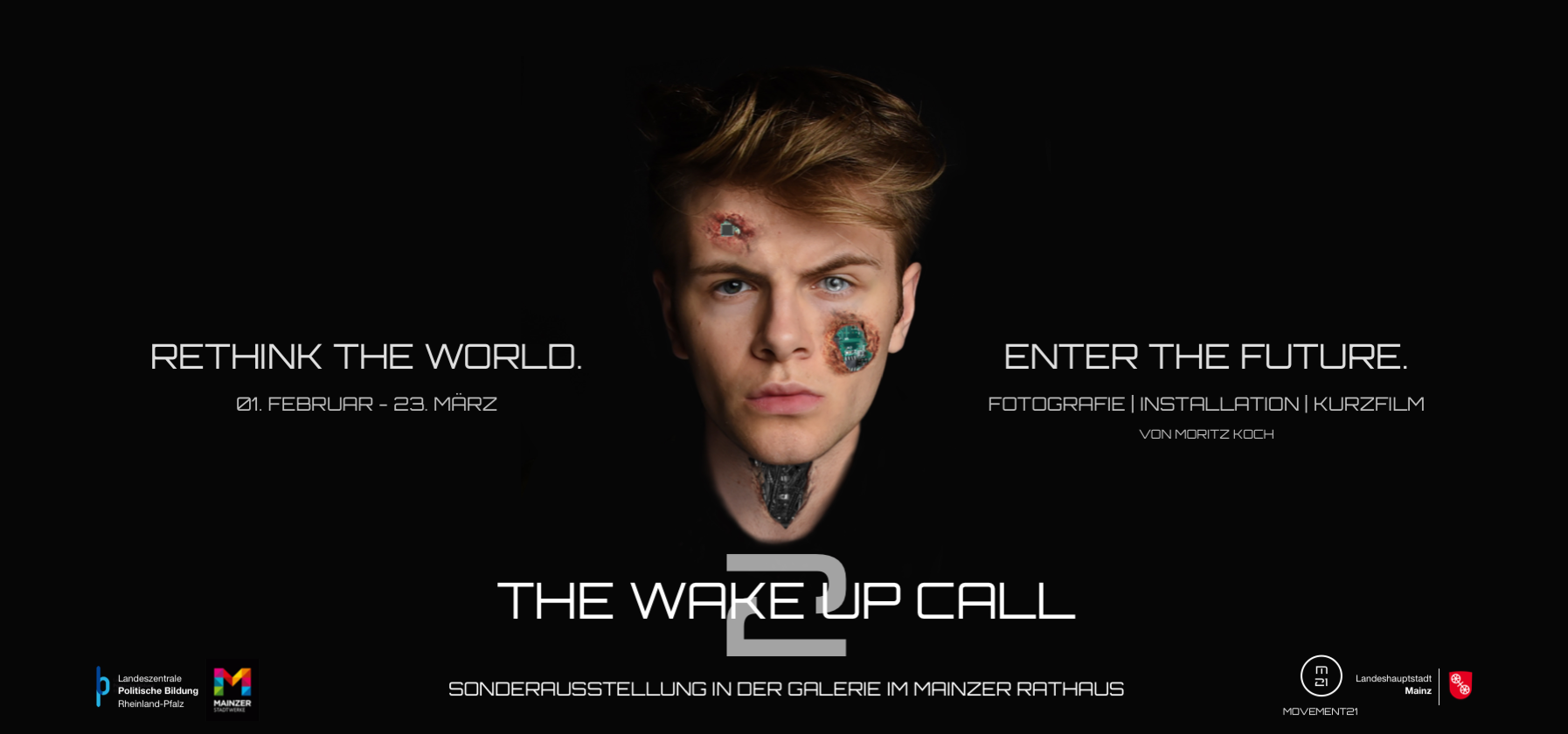 "Flyer Moritz Koch − Ausstellung ""THE WAKE UP CALL 2"""
